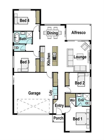 First Home Buyers get in QUICK floor plan - Lot 227, Wandsworth Street 'The Views', Cranley, 4350