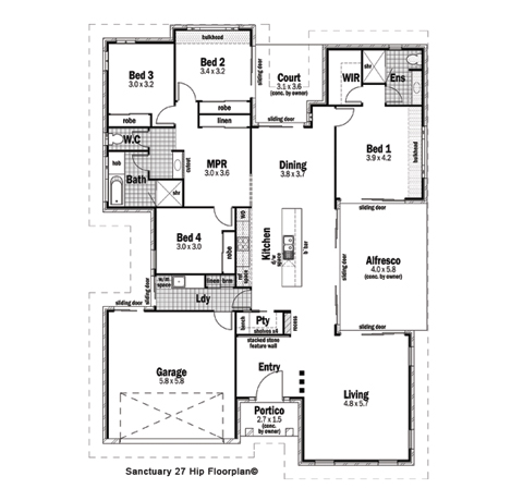 Lot 32 stanley drive cannon valley design detail and floor plan integrity new homes for Stanley home design software free download