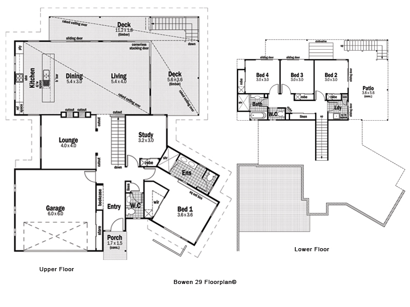Homes Of Integrity Floor Plans: The Floor Plan Of The Bowen 29