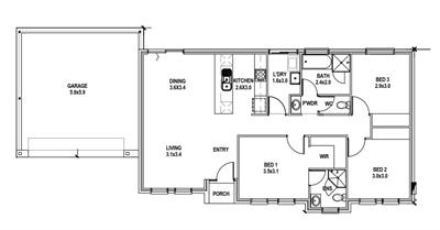 Stylish and Affordable - House & Land Package in West Richmond!!! floor plan - Lot 1, 30 Britton Street, WEST RICHMOND, 5033