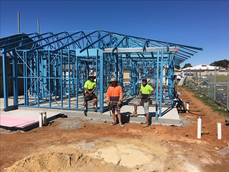 STEEL FRAMES COMPLETED AT JUNCTION HILL