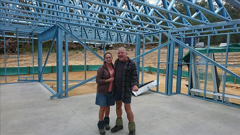 GRAFTON CLIENTS EXCITED WITH THE PROGRESS OF THEIR NEW HOME!