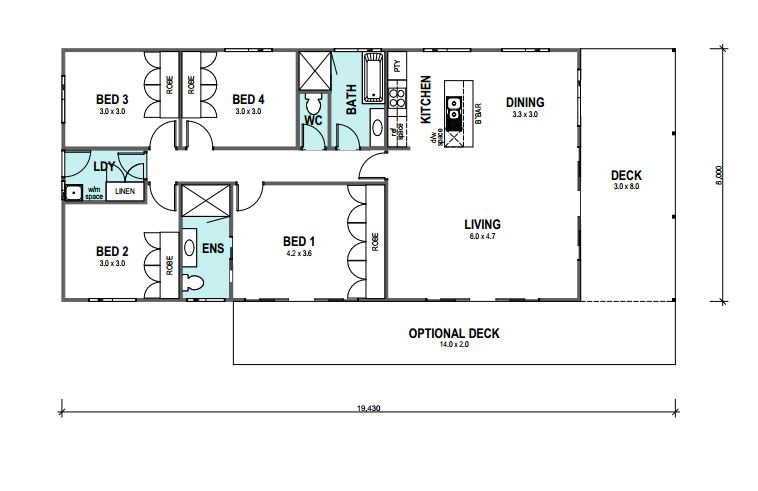 SEASIDE 124 Floor Plan