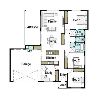 Exceptional Value 4 bedroom Family Home floor plan - Lot 8, Marathon Street, Westdale, 2340