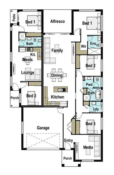 Cost positive rental oportunity floor plan - Lot 4, Madgwick Lot 4 Madgwick drive, Armidale, 2350