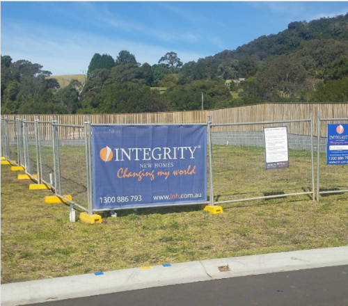 Site cuts happening this week at Integrity New Homes South
