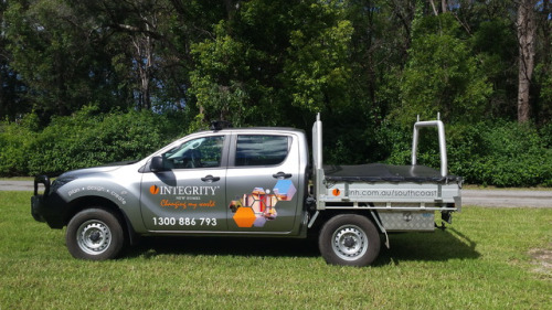 Integrity New Homes South Coast supervisors new ute with our new