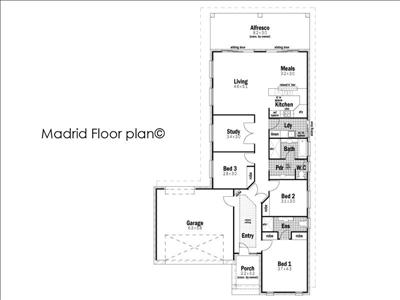 House Design Floor Plan Madrid