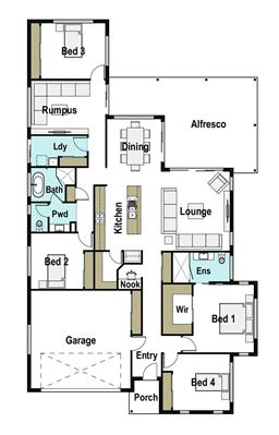 House Design Floor Plan Saltwater 235