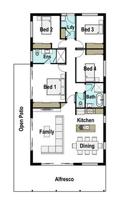 House Design Floor Plan Seaside 160