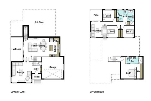 House Design Floor Plan Sierra 310