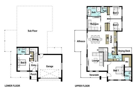 House Design Floor Plan Pacific 255