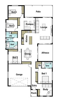 House Design Floor Plan Coogee 305