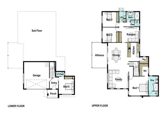 House Design Floor Plan Suffolk 280