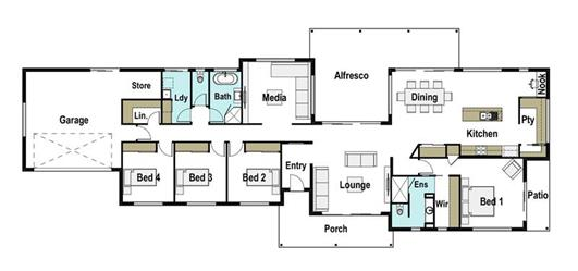 House Design Floor Plan Genesis 310