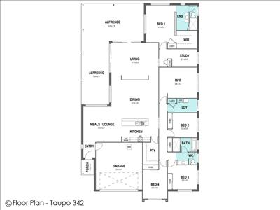 House Design Floor Plan Taupo 342