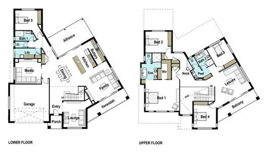 House Design Floor Plan Luxe 445