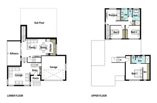 House Design Floor Plan Sierra 260