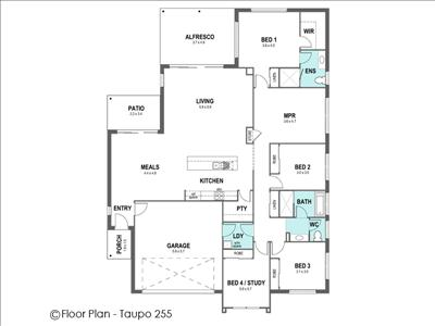 House Design Floor Plan Taupo 255