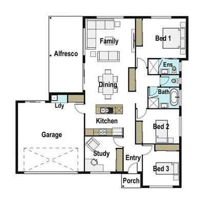 House Design Floor Plan Kirra 185