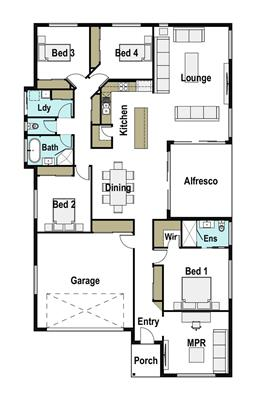 House Design Floor Plan Coogee 250