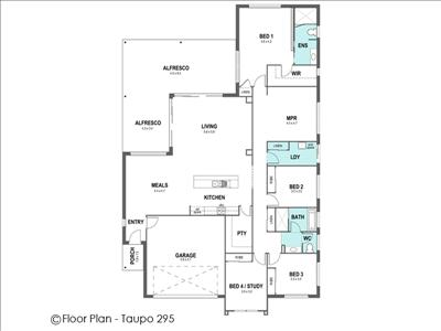 House Design Floor Plan Taupo 295