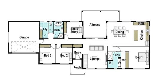 House Design Floor Plan Genesis 245
