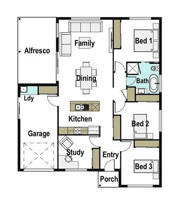 House Design Floor Plan Kirra 150