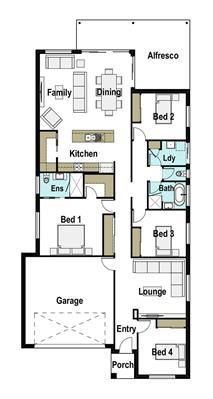 House Design Floor Plan Avoca 235