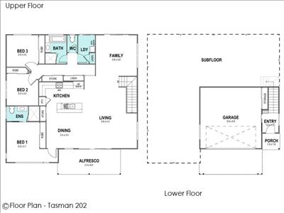 House Design Floor Plan Tasman 202