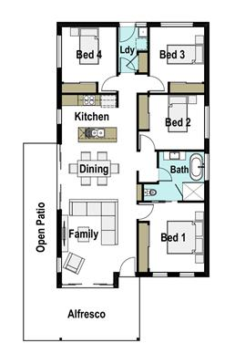 House Design Floor Plan Seaside 130