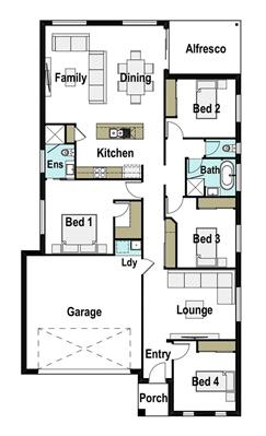 House Design Floor Plan Avoca 205