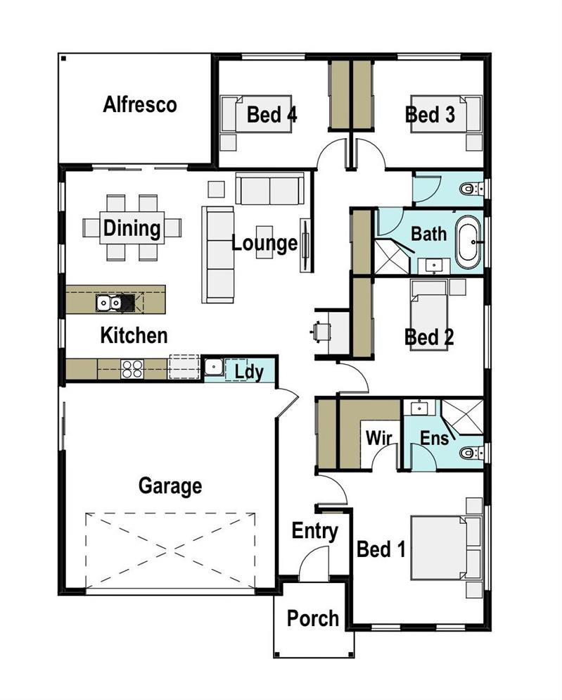 Avalon 190 design detail and floor plan integrity new homes for Avalon floor plan