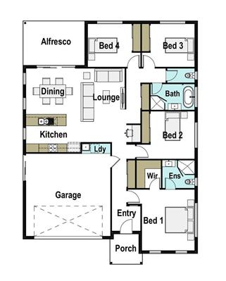 House Design Floor Plan Avalon 190