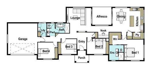 House Design Floor Plan Barrington 240