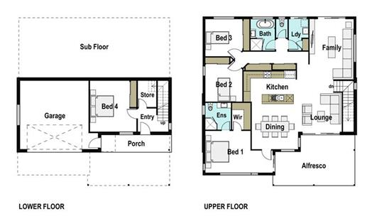 House Design Floor Plan Tasman 260