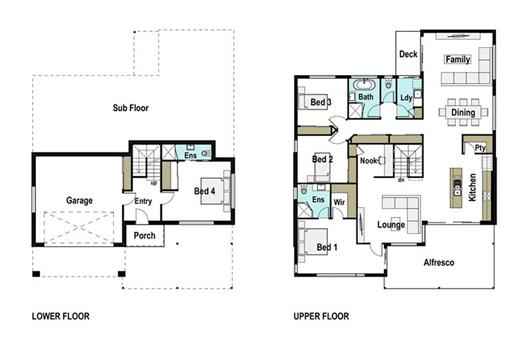 House Design Floor Plan Tasman 290