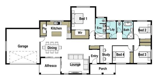 House Design Floor Plan Gunnedah 225