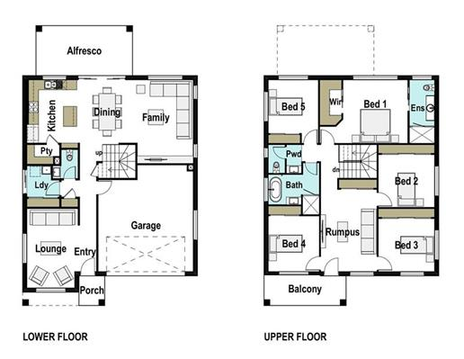 House Design Floor Plan Hudson 280