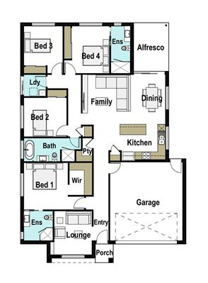 House Design Floor Plan Chelsea 205
