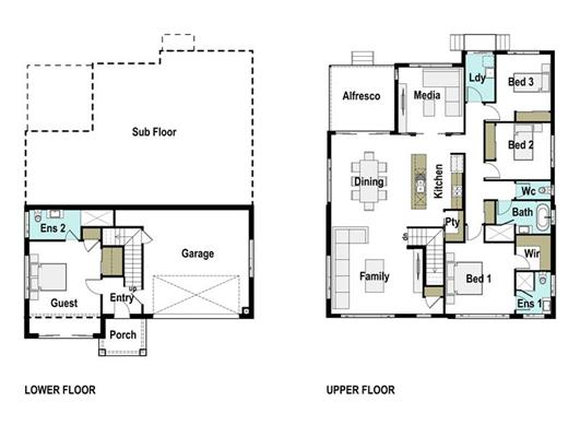 House Design Floor Plan Harcourt 265