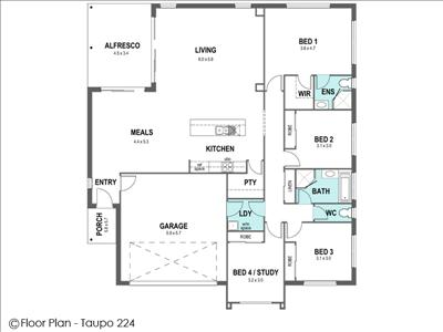 House Design Floor Plan Taupo 224