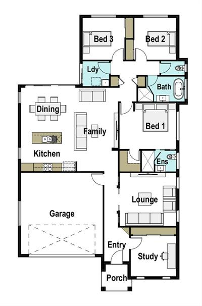"Efficient and Cost Effective floor plan - Lot 65, 10 Explorers Way ""Northern Lights Estate"", WESTDALE, 2340"