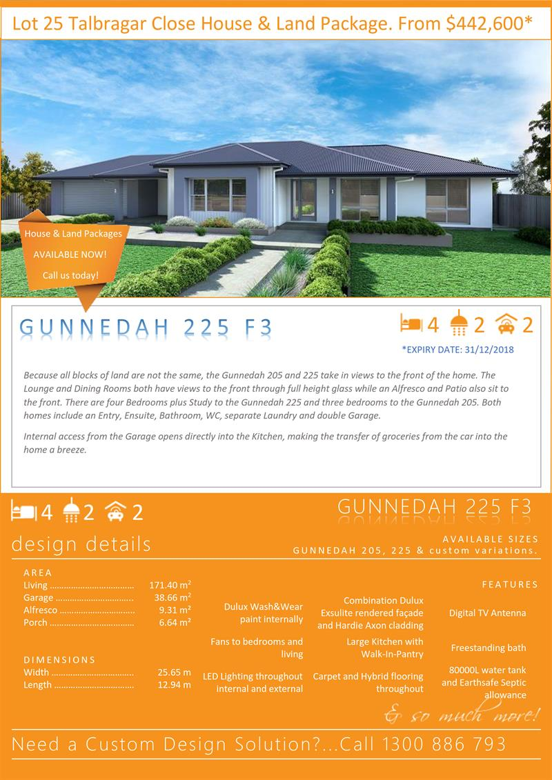 Maximise your majestic views with this wide style home (Gunnedah 225 F3). Integrity New Homes House And Land