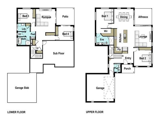 House Design Floor Plan Aurora 280