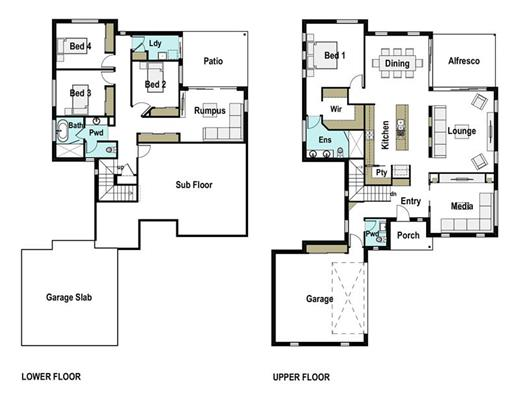House Design Floor Plan Aurora 305
