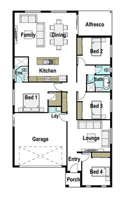 House Design Floor Plan Avoca 200