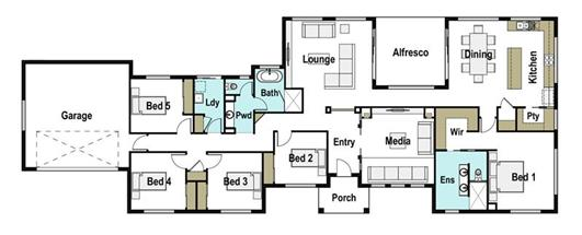 House Design Floor Plan Barrington 280