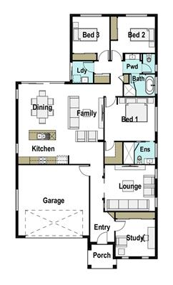 House Design Floor Plan Bowen 200