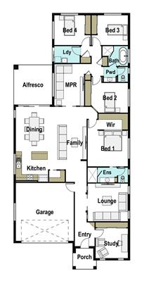 House Design Floor Plan Bowen 260